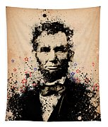 Abraham Lincoln Splats Color Tapestry