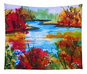 Abstract - Autumn Blaze On Catskill Creek Tapestry