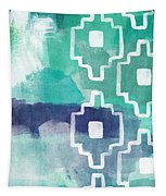 Abstract Aztec- Contemporary Abstract Painting Tapestry
