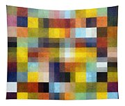 Abstract Boxes With Layers Tapestry