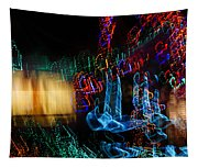 Abstract Christmas Lights - Color Twists And Swirls  Tapestry