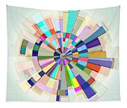 Abstract Color Wheel Tapestry