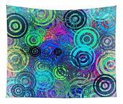 Abstract Colorful Rings Tapestry