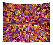 Abstract Cubes Red Orange Tapestry