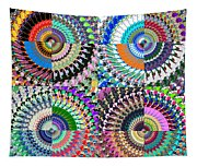 Abstract Digital Art Collage Tapestry