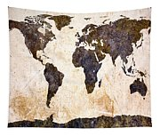 Abstract Earth Map Tapestry