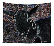 Abstract Goat Tapestry