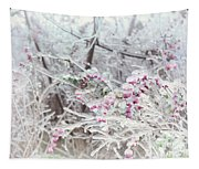 Abstract Ice Covered Shrubs Tapestry