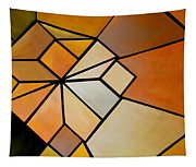 Abstract Impossible Warm Figure Tapestry