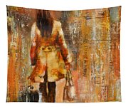Abstract Lady  5 Tapestry