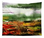 Abstract Landscape Sunrise Sunset Tapestry