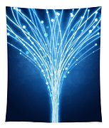 Abstract Lighting Lines Tapestry