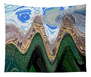 Abstract - Penguins On Ice Tapestry