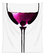 Abstract Red Wine Glass 2 Tapestry