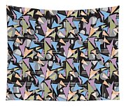 Abstract Shapes Collage Tapestry
