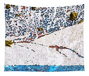 Abstract Snow Storm Tapestry