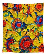 Abstract Sunflowers Tapestry