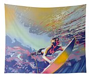 Abstract Surf Tapestry