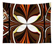 Abstract Triptych - Brown - Orange Tapestry