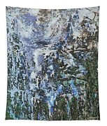 Abstract Winter Landscape Tapestry