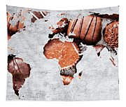 Abstract World Map - Chocolates - Confections - Candy Shop Tapestry