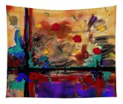 Abstract Yellow Horizontal Tapestry