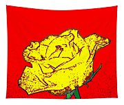 Abstract Yellow Rose Tapestry
