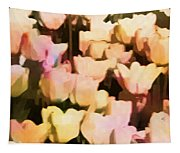 Abstracted Tulips Tapestry