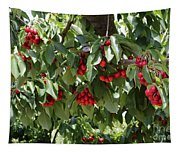Abundant Cherries Tapestry