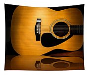 Acoustic Guitar Reflected Tapestry