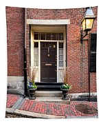 Acorn Street Door And Lamp Tapestry
