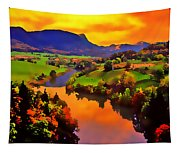 Across The Valley Tapestry