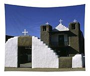 Adobe Church Taos Tapestry