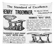 Advertisement Scales Tapestry