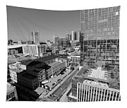 Aerial Photography Downtown Nashville Tapestry