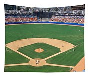 Aerial View Of A Stadium, Dodger Tapestry