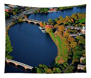 Aerial View Of Charles River With Views Tapestry
