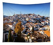 Aerial View Of Comares Village, One Tapestry