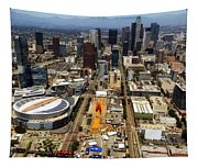 Aerial View Of Los Angeles Tapestry