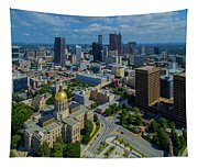 Aerial View Of Skyline And Georgia Tapestry