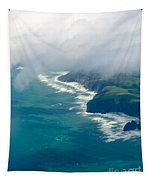 Aerial View Of Tasman Sea Shore Nz North Island Tapestry