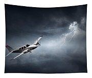 Risk - Aeroplane In Thunderstorm Tapestry