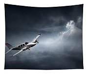 Risk - Aeroplane In Thunderstorm Tapestry