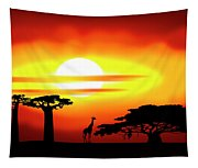Africa Sunset Tapestry