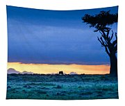 African Panoramic Sunset Landscape Tapestry