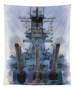Aft Turret 3 Uss Iowa Battleship Photoart 01 Tapestry