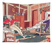 After Christmas Lunch Tapestry