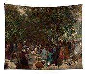 Afternoon In The Tuileries Gardens Tapestry