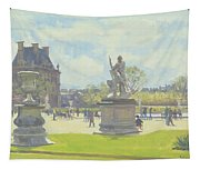 Afternoon In The Tuileries, Paris Oil On Canvas Tapestry