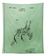 Agriculture Plow Patent Tapestry
